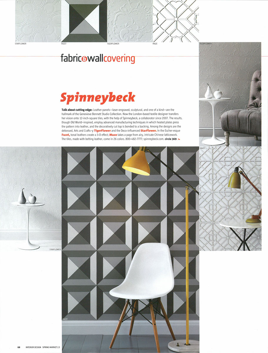 Interior Design, Spring Market Tabloid 2013