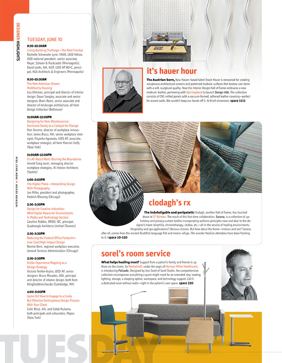 Interior Design Show Daily, Jun 2014